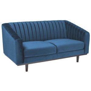 Alden 2-sits soffa - Blå Sammet / Wenge -2-sits soffor - Soffor