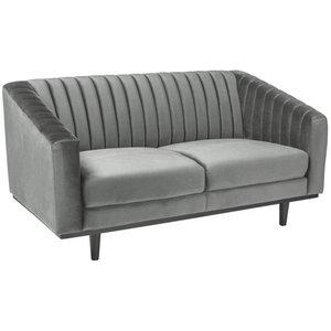 Alden 2-sits soffa - Grå sammet / Wenge -2-sits soffor - Soffor