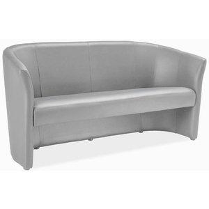Charity 3-sits soffa - Grå (PU) -3-sits soffor - Soffor