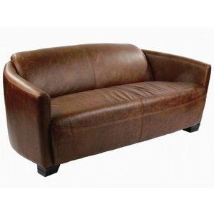 Corniche Vintage 2-sits lädersoffa -Skinnsoffor - Soffor