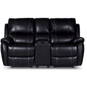Enjoy Chicago Biosoffa - 2-sits soffa recliner (el) i svart konstläder -Biosoffor & Reclinersoffor - Soffor