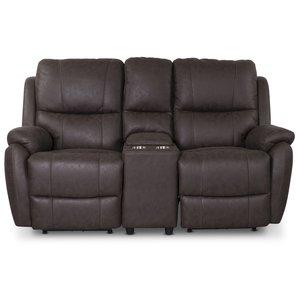 Enjoy Hollywood Biosoffa - 2-sits recliner (el) i brunt microfibertyg -2-sits soffor - Soffor
