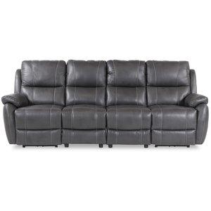 Enjoy Hollywood reclinersoffa - 4-sits (el) i grått konstskinn -Biosoffor & Reclinersoffor - Soffor
