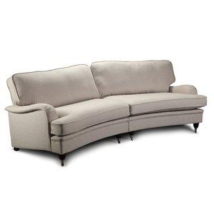 Howard Southampton XL svängd soffa 275 cm - Beige -Howardsoffor - Soffor