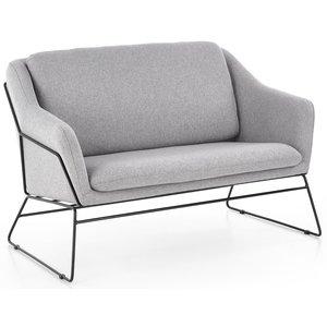 Regina soffa - Ljusgrå/svart -Tygsoffor - Soffor