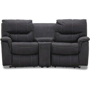 Rom Biosoffa - 2-sits recliner (el) i grått microfibertyg -Biosoffor & Reclinersoffor - Soffor
