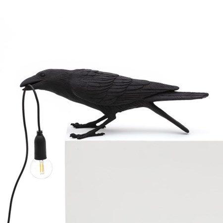 Bird Lamp Playing Svart - SELETTI - bild
