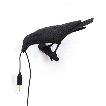 Bird Lamp Looking Svart - SELETTI - bild