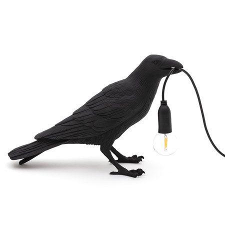 Bird Lamp Waiting Svart - SELETTI - bild