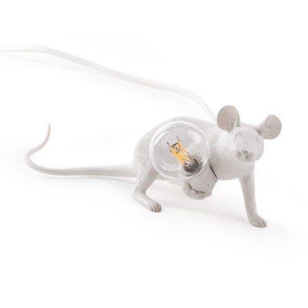 Mouse Lamp Liggandes Vit - SELETTI - bild