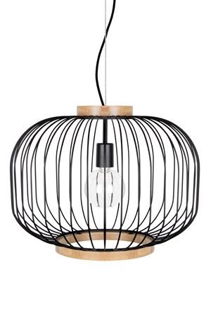 Berlin Taklampa XL Mattsvart/Ask - Globen Lighting - bild
