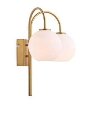 Ballon duo vägglampa - Mässing/vit LED - Herstal - bild