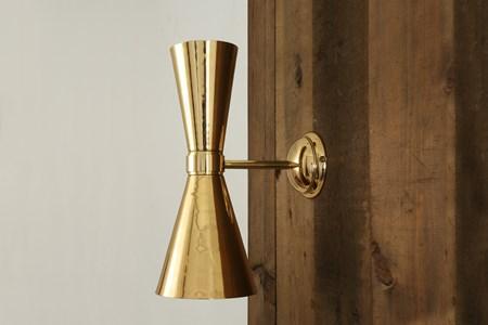 Amias elegant vägglampa - Mullan Lighting - bild
