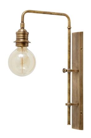 Vägglampa till Dekorativ Glödlampa Mässing - Nordal - bild