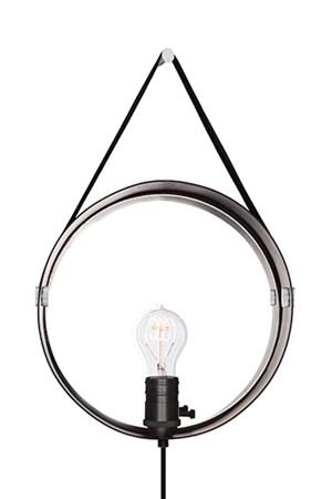Vägglampa Hangover Svart / Krom - Globen Lighting - bild