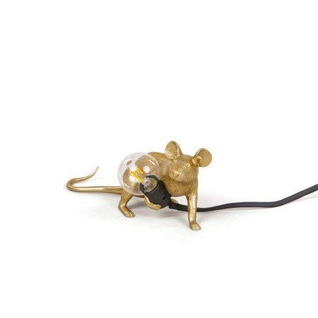 Mouse Lamp Lop Guld - SELETTI - bild