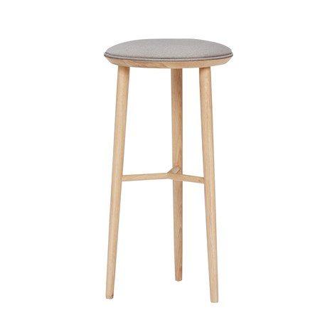 Barstol med dyna ø40xh72 cm - Natur - Hübsch - bild