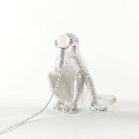 Monkey Lamp Sittande Vit - SELETTI - bild