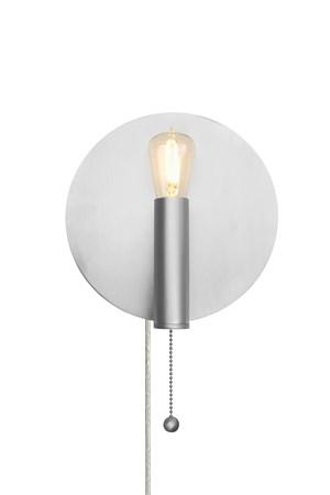 Art Deco Vägglampa Borstad Stål - Globen Lighting - bild