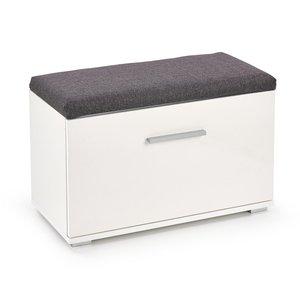 Abdel skoskåp med sits - Vit -Skoskåp - Hallmöbler