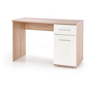 Abdel skrivbord - Sonoma ek/vit -Skrivbord - Kontorsmöbler