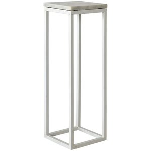 Accent Piedestal - Vit marmor -Sängbord - Sovrumsmöbler