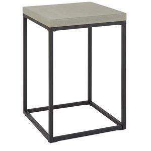 Accent sängbord - Ljusgrå betong -Sängbord - Sovrumsmöbler
