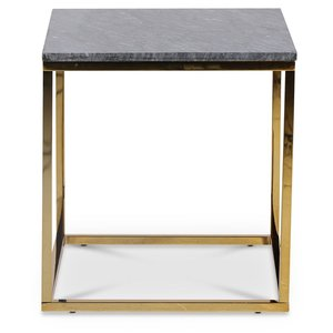 Accent soffbord 50 - Grå marmor / Blank mässing -Marmorbord - Bord