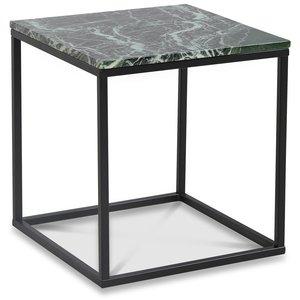 Accent soffbord 50 - Grön marmor / Svart -Marmorbord - Bord