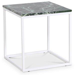 Accent soffbord 50 - Grön marmor / Vit -Marmorbord - Bord