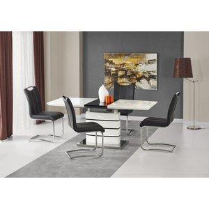 Adine matbord 140-180 cm - Vit/svart -Matbord - Bord