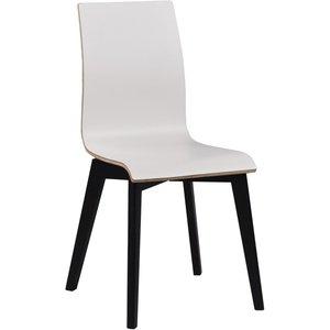 Aniyah stol - Vit/svartbetsad -Matstolar & Köksstolar - Stolar