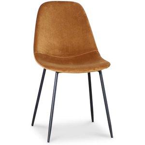 Bjurträsk stol - Guldig sammet -Matstolar & Köksstolar - Stolar