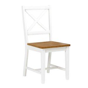 Cross stol - vit/ekbets -Matstolar & Köksstolar - Stolar