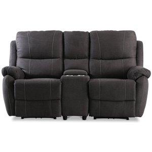 Enjoy Hollywood Biosoffa - 2-sits recliner (el) i antracit microfibertyg -Biosoffor & Reclinersoffor - Soffor