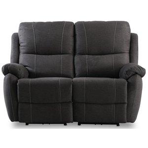 Enjoy Hollywood reclinersoffa - 2-sits (el) i antracit microfibertyg -Biosoffor & Reclinersoffor - Soffor