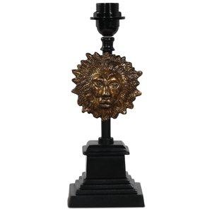 Lejon lampfot H36 cm - Svart / Guld -Bordslampor - Lampor