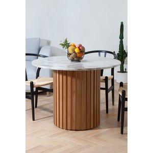 Matisse runt matbord i marmor - Ek (Lameller) / Marmor -Matbord - Bord