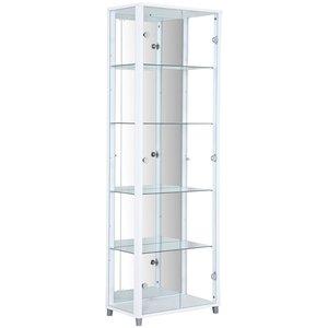 Optima vitrin & glasskåp - vitt   2 dörrar (med spegelbakstycke) -Vitrinskåp - Bänkar & förvaring