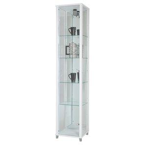 Optima vitrin & glasskåp - vitt (med spegelbakstycke) -Vitrinskåp - Bänkar & förvaring