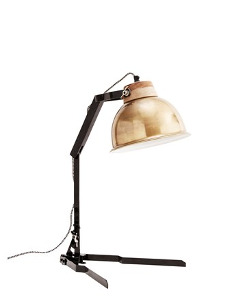 Bordslampa 35x58cm Mässing/svart - Madam Stoltz - bild