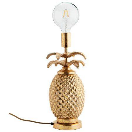 Bordslampa Ananas Guld - Madam Stoltz - bild