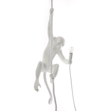 Monkey Lamp med Rep Vit - SELETTI - bild