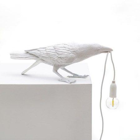Bird Lamp Playing Vit - SELETTI - bild