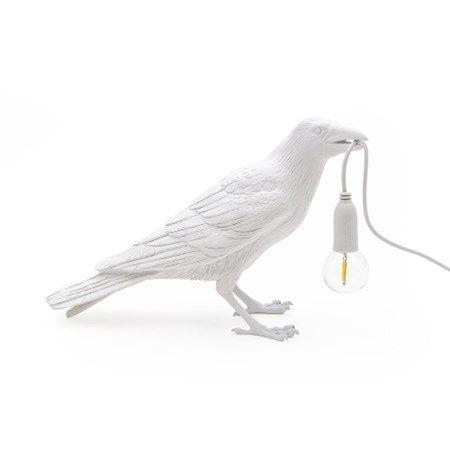 Bird Lamp Waiting Vit - SELETTI - bild