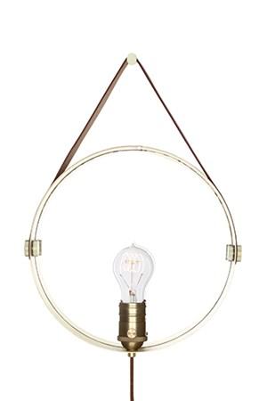 Vägglampa Hangover Brun / Mässing - Globen Lighting - bild