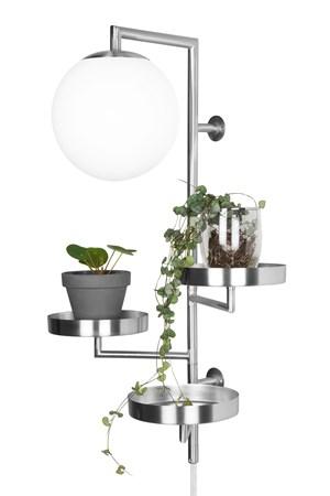 Astoria Vägglampa Borstad Stål - Globen Lighting - bild