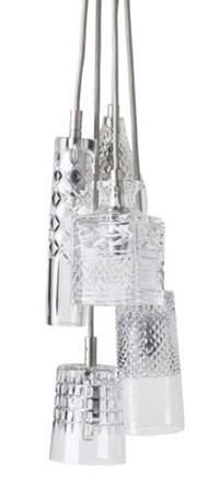 5 Taklampor Kristall Bates