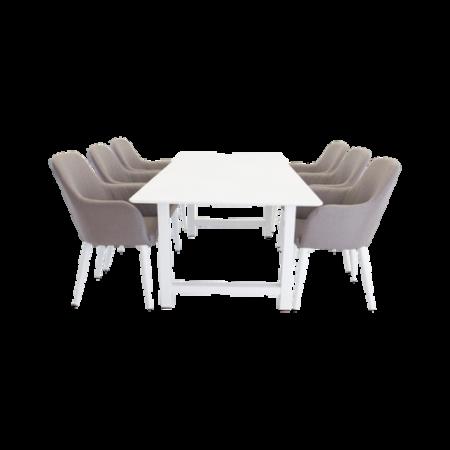 Bild på Matgrupp med Canet bord och  6 st Croft stolar - NORDFORM