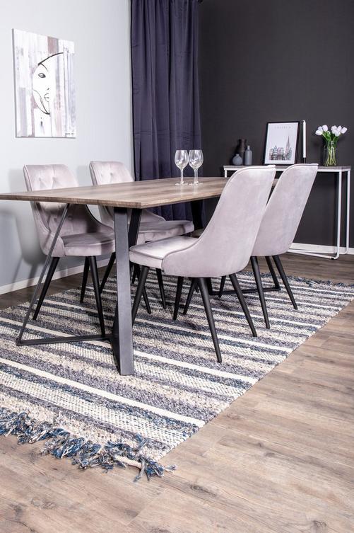 Bild på Matgrupp Manchester bord och 4 st Valleta stolar - NORDFORM